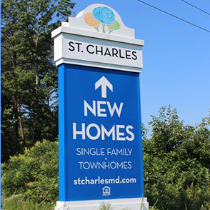 new homes sign at St. Charles